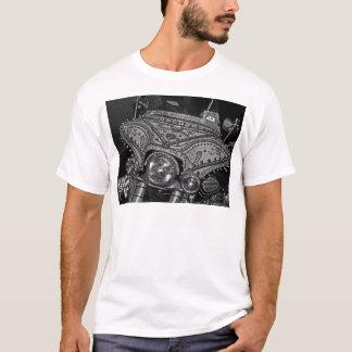 Diamante artificial Harley en el bw Camiseta