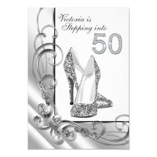 Diamante atractivo que camina en fiesta de invitación 12,7 x 17,8 cm