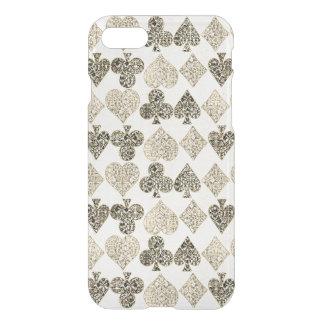 Diamante beige Antiqued envejecido del corazón del Funda Para iPhone 7