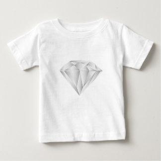 Diamante blanco para mi amor camiseta de bebé