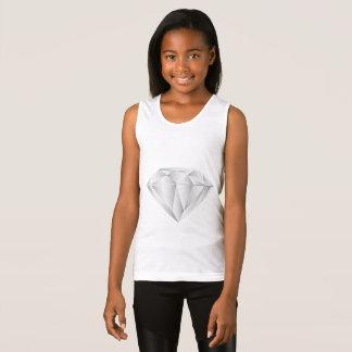 Diamante blanco para mi amor camiseta de tirantes