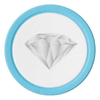 Diamante blanco para mi amor fichas de póquer