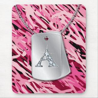 """Diamante Bling, placas de identificación de """"A"""" y Alfombrilla De Ratón"""