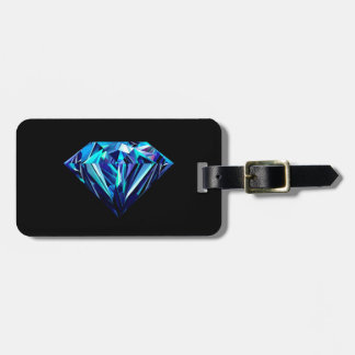 Diamante chispeante etiqueta para maletas