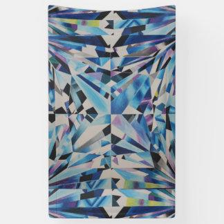 Diamante de cristal 3' x 5' bandera lona
