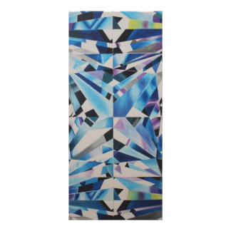 "Diamante de cristal 4"" x 9"" Rackcard Tarjeta Publicitaria"