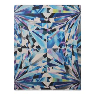 """Diamante de cristal 8,5"""" x 11"""" aviador flyer"""