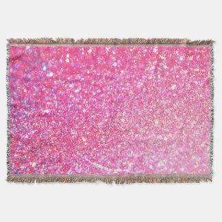 Diamante de la chispa del brillo manta tejida