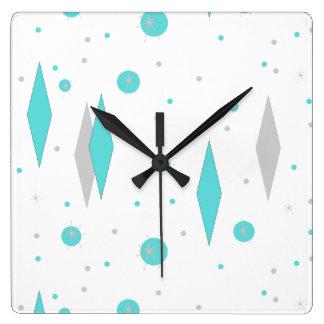 Diamante de la turquesa y reloj de pared retros de