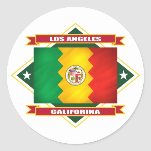 Diamante de Los Ángeles Pegatinas Redondas