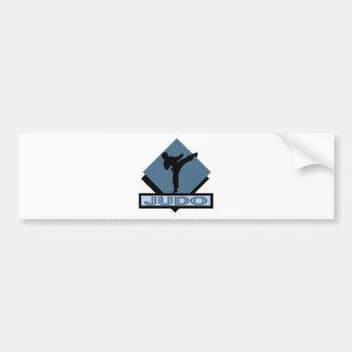 Diamante del azul del judo pegatina para coche
