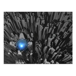Diamante en bruto azul tarjeta postal