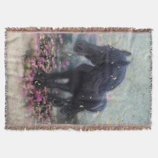 DIAMANTE en manta del ~ de las flores