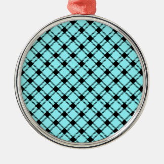 Diamante grande de tres bandas - negro en azul elé ornamento de reyes magos