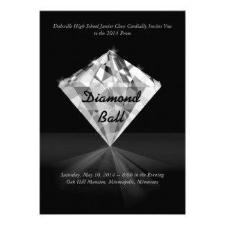 Diamante - invitaciones del baile de fin de curso invitacion personalizada