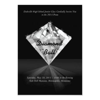 Diamante - invitaciones del baile de fin de curso invitación 12,7 x 17,8 cm