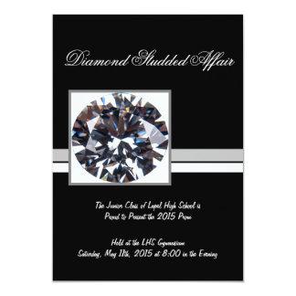 Diamante o invitación del baile de fin de curso de invitación 12,7 x 17,8 cm