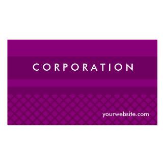 Diamante púrpura a cuadros y tarjetas de visita de
