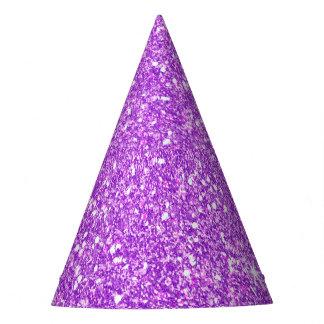 Diamante púrpura del brillo gorro de fiesta