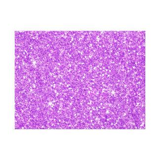 Diamante púrpura del lujo del brillo impresión en lienzo
