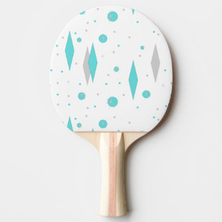 Diamante retro de la turquesa y ping-pong Padd de Pala De Ping Pong
