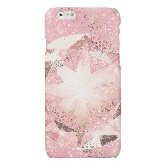 Diamante rosado en pastel ligero con la chispa del