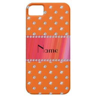 Diamantes anaranjados conocidos personalizados iPhone 5 cárcasa