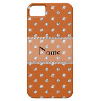 Diamantes anaranjados quemados conocidos iPhone 5 protectores