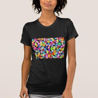 diamantes artificiales del arco iris camiseta