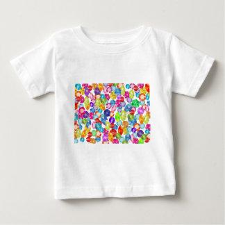 diamantes artificiales del arco iris camiseta de bebé