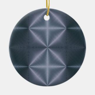 Diamantes azules adorno redondo de cerámica
