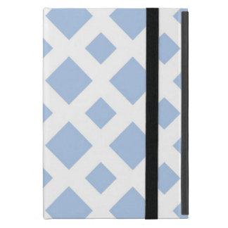 Diamantes azules claros en blanco iPad mini cobertura