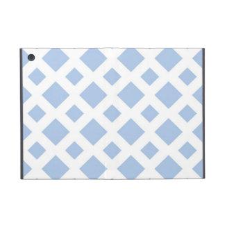 Diamantes azules claros en blanco iPad mini protectores