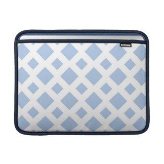 Diamantes azules claros en blanco funda macbook air