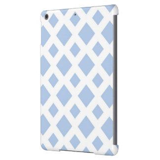 Diamantes azules claros en blanco funda para iPad air
