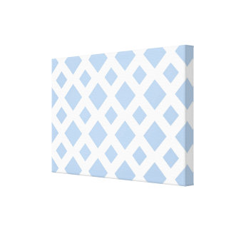 Diamantes azules claros en blanco impresiones de lienzo