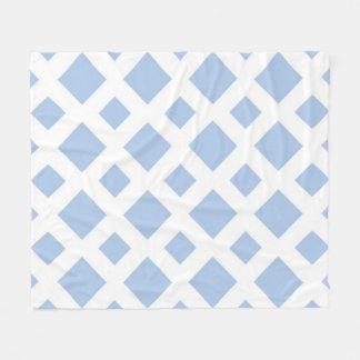 Diamantes azules claros en blanco manta de forro polar