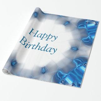 Diamantes azules papel de regalo