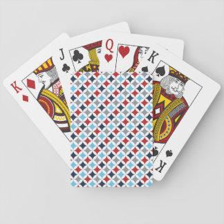 Diamantes blancos y azules rojos baraja de cartas
