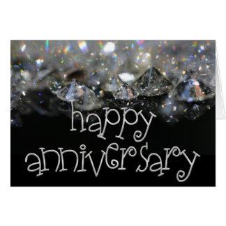 Diamantes brillantes de plata negros elegantes del tarjeta de felicitación