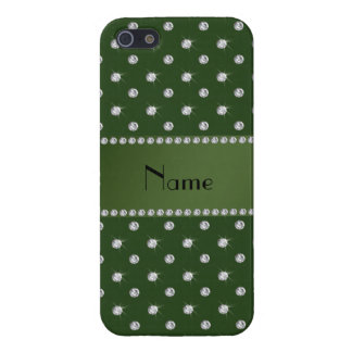 Diamantes conocidos personalizados del Forest Gree iPhone 5 Protector