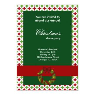 Diamantes de la cena de navidad invitación 12,7 x 17,8 cm