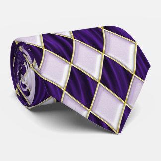 Diamantes de la lila en lazo púrpura del carnaval corbatas