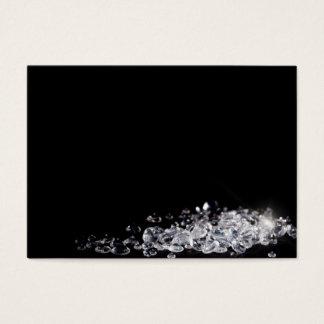 Diamantes en un fondo negro tarjeta de visita