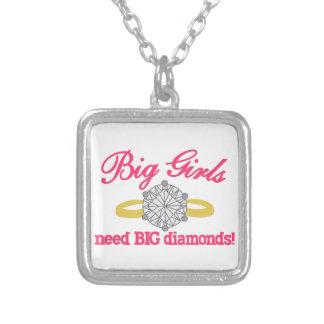 Diamantes grandes colgante cuadrado
