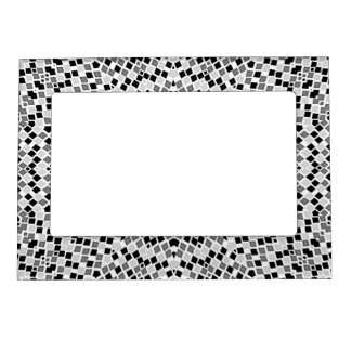 Diamantes grises blancos del negro del marco de la marcos magnéticos de fotos