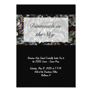 Diamantes - invitaciones del baile de fin de curso invitación 12,7 x 17,8 cm