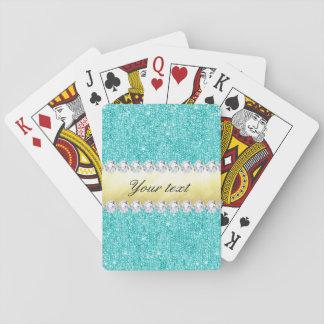 Diamantes personalizados del oro de las baraja de cartas