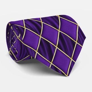 Diamantes púrpuras en lazo púrpura del carnaval de corbata personalizada