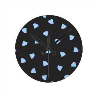 Diamantes que caen reloj redondo mediano
